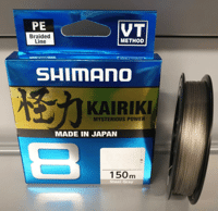 Шнур SHIMANO KAIRIKI 8 PE Steel Gray 150m 0.10mm 6,5kg в Днепропетровской области от компании Малек