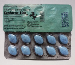 Виагра 100 Дженерик Cenforce 100 mg Sildenafil 10 таб