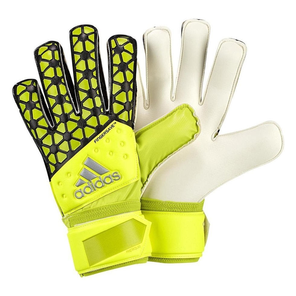 Вратарские перчатки Adidas Ace Fingersave Replique Goalkeeper Gloves ##от компании## ФУТБОЛ + - ##фото## 1