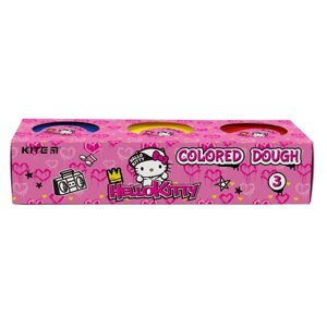 Тесто цветное, 3*75 г, Kite Hello Kitty HK21-151