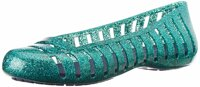 "Балетки крокс адрина глитер флат J6 m6 w8-25cm Crocs Girls"" Adrina Ii Glitter Flat Tropical Teal Nautical Navy 15613-3l7"