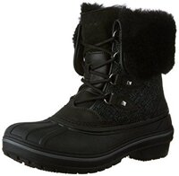 "Сапоги крокс олкаст делюкс crocs Women""s AllCast II Luxe Snow Boot, Black , w10-27cm"