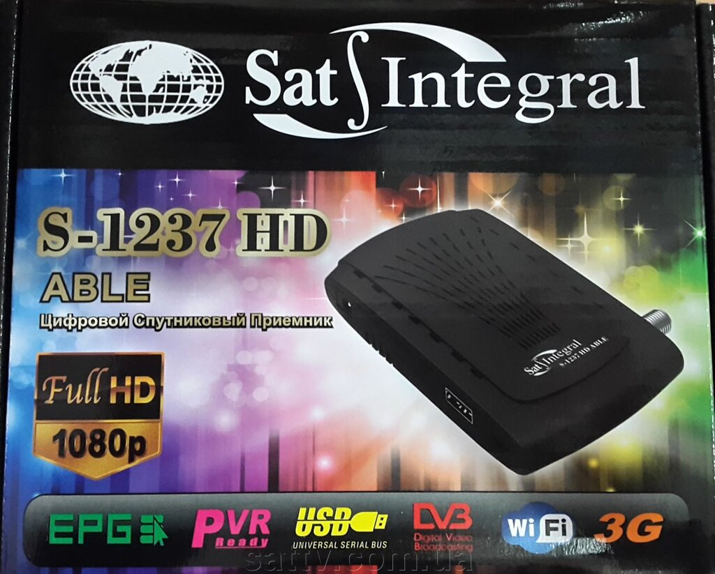 Ресивер Sat-Integral S-1237Hd Able ##от компании## Sat TV - ##фото## 1