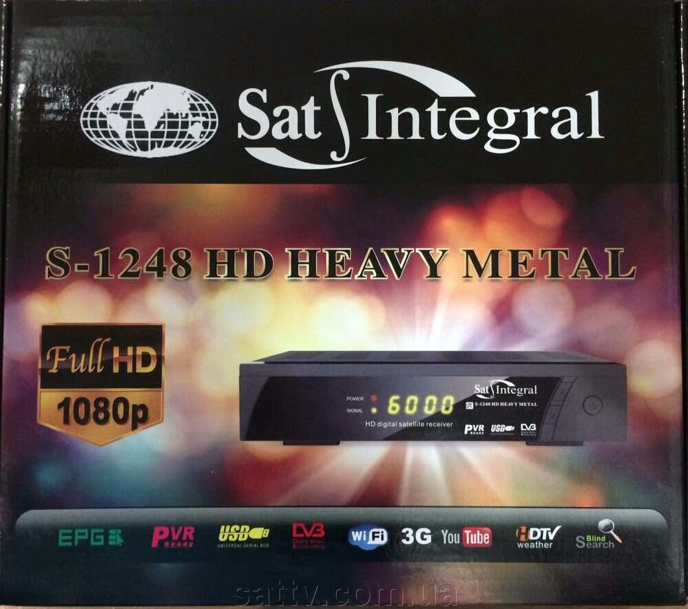 Ресивер Sat-Integral S-1248 HD HEAVY METAL ##от компании## Sat TV - ##фото## 1