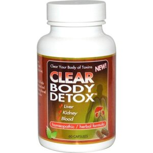 Clear Products, Clear Body Detox, 60 caps
