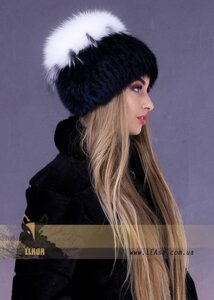 Хутряна шапка з білого песця від компанії Жіночі шуби та жилети з  натурального хутра від Українського 6712367396663