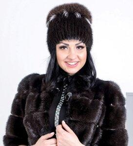 Жіноча хутряна шапка-кулька від компанії Жіночі шуби та жилети з  натурального хутра від Українського 26db19ad88e59