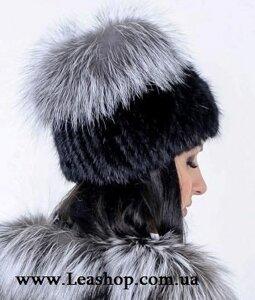 Жіноча хутряна шапка з чорнобурки від компанії Жіночі шуби та жилети з  натурального хутра від Українського 68cab908a79f8