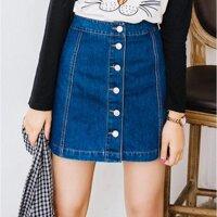 dd42321dee04 Джинсовые женские юбки купить в интернет-магазинах Украины. Низкие ...