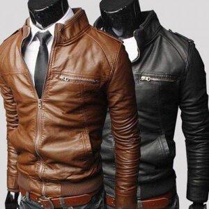 0791fbeddb1 Мужская искусственная кожа куртка осень - весна от компании Интернет-магазин