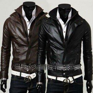 bfe71eb3a1a6 Мужская куртка Pu кожа демисезонная от компании Интернет-магазин