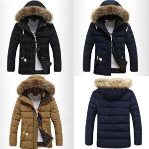 250d56c0af6 Мужская куртка с меховым капюшоном