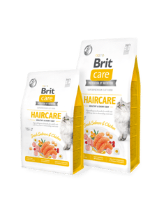 Сухой беззерновой корм Brit Care Cat GF Haircare Healthy & Shiny Coat
