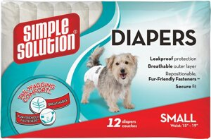 Simple Solution Disposable Diapers Small гигиенические подгузники для животных 12шт. в Киеве от компании MY PET