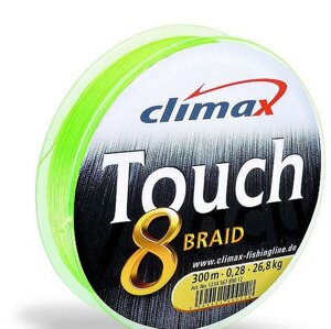 Шнур Climax Touch 8 Plus Braid Chartreuse 135м 0,10мм