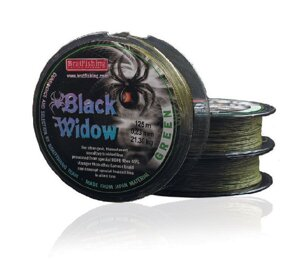 Шнур BratFishing Black Widow Green 125м 0,21мм