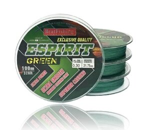 Шнур BratFishing Espirit X8 Green 100м 0,10мм