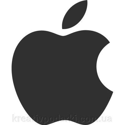 "Интерьерная наклейка - Apple Logo (от 15х15 см) ##от компании## ИНТЕРНЕТ МАГАЗИН ""КРЕАТИВНЫЕ ПОДАРКИ"" - ##фото## 1"